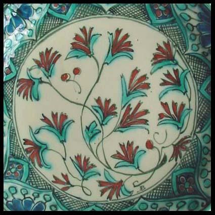 De porceleyne fles delft sierbord met iznik decoratie for Decoratie fles