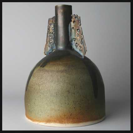 Colin Pearson (potter) Colin Pearson stupa shaped winged vase Capriolus Contemporary